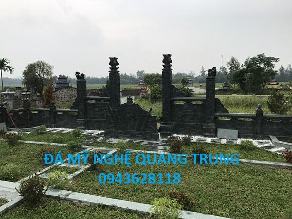 Cột cổng lăng mộ đá xanh