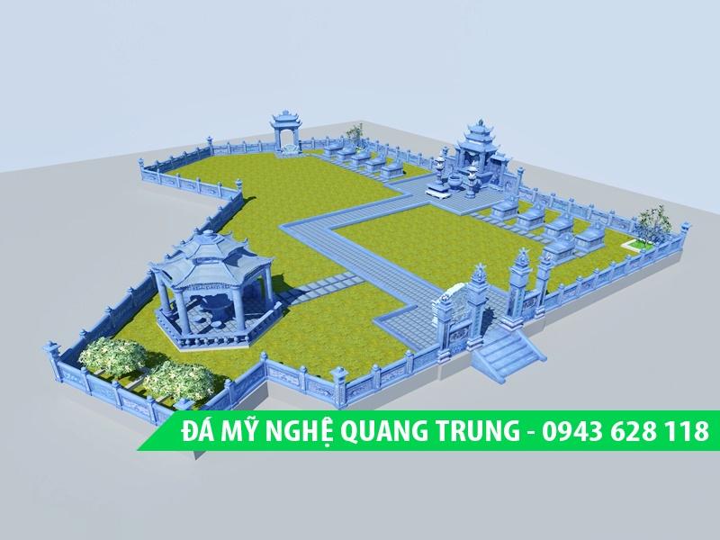 Phối cảnh 3D khu lăng mộ đá đẹp của Đá mỹ nghệ Quang Trung