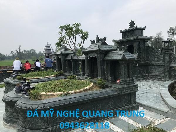 Khu Lăng mộ đá xanh rêu đẹp của Đá mỹ nghệ Quang Trung