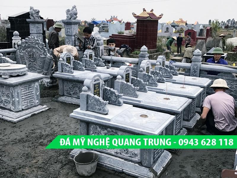 Mẫu Mộ Bành đá đơn giản đẹp của Quang Trung