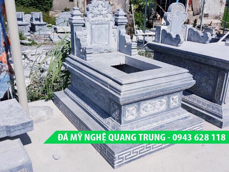 Mẫu mộ đá đẹp Quang Trung - Mộ bành đá đơn Quang Trung