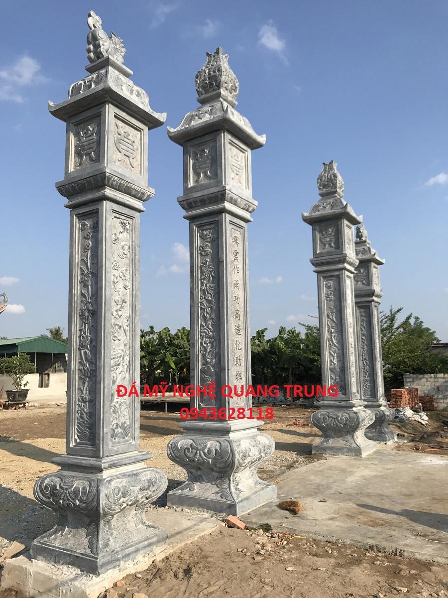 Cột trụ đá - Cột đá đẹp Quang Trung