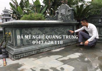 Mẫu Mộ đá xanh rêu đẹp của Đá mỹ nghệ Quang Trung