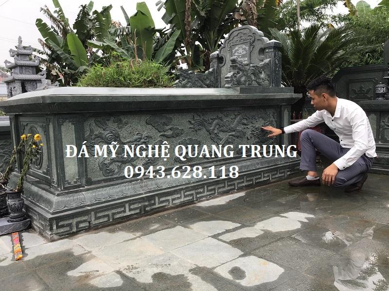Hoa văn Mộ đá đẹp của Đá mỹ nghệ Quang Trung