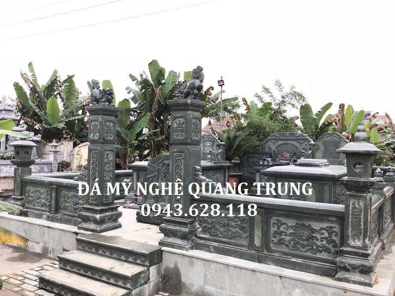 Khu lăng mộ đá xanh rêu đẹp Đá mỹ nghệ Quang Trung