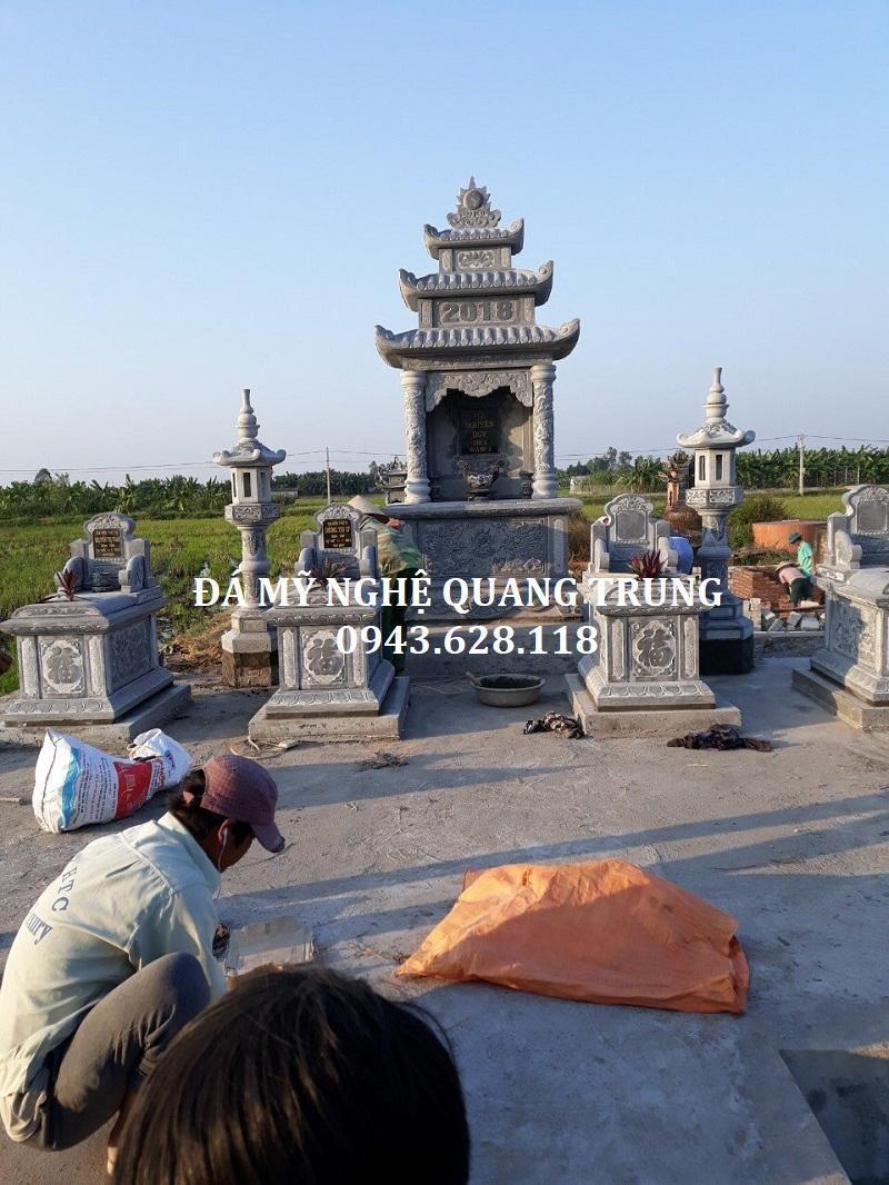 Quy tập Khu lăng mộ đá đẹp tại Thái Bình