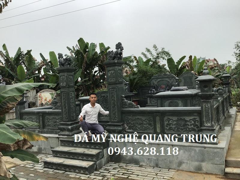 Lăng mộ đá xanh rêu đẹp Đá mỹ nghệ Quang Trung