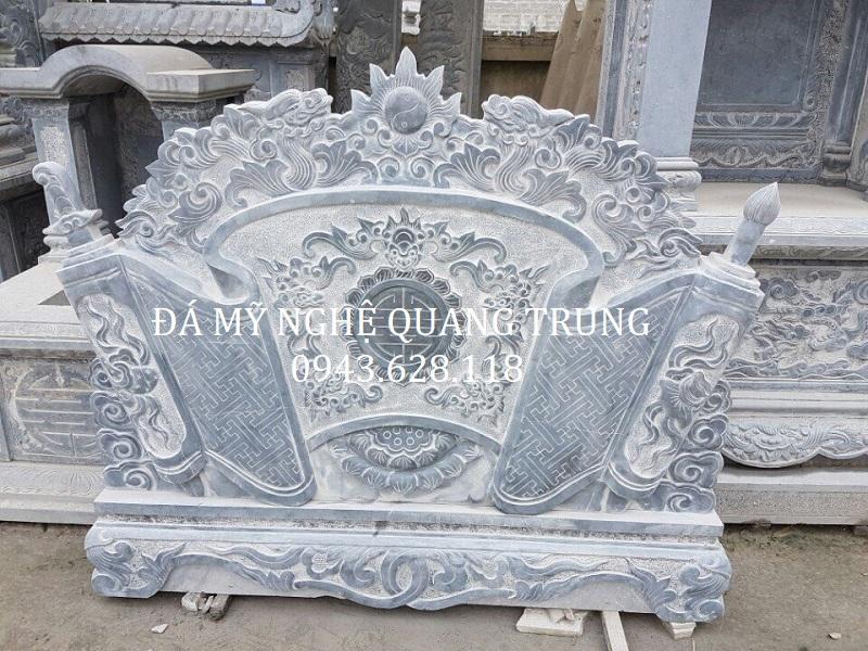Mẫu cuốn thư đá - Bình phong đá đẹp Quang Trung