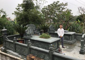 Lăng mộ đá xanh rêu cao cấp tại Diễn Châu – Nghệ An (T3/2019)