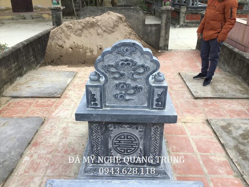 MẶT SAU MỘ BÀNH ĐÁ Lăng mộ đá, Mộ đá Ninh Bình