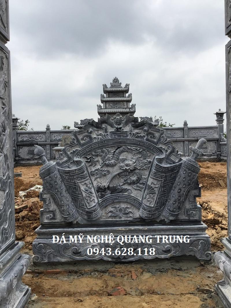 MẶT TRƯỚC CUỐN THƯ ĐÁ Lăng mộ đá, Mộ đá Ninh Bình