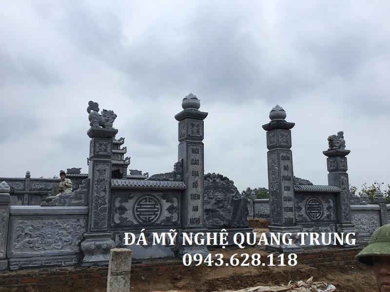 Lan can đá chữ thọ đẹp Quang Trung