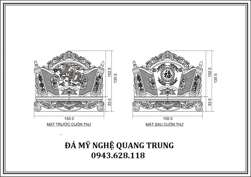 THIẾT KẾ CHI TIẾT CUỐN THƯ ĐÁ 1.55 Lăng mộ đá, Mộ đá Ninh Bình