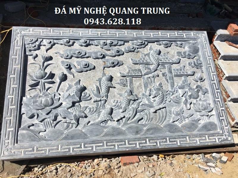 CHIẾU ĐÁ CÁ CHÉP VƯỢT NGŨ MÔN Lăng mộ đá, Mộ đá Ninh Bình