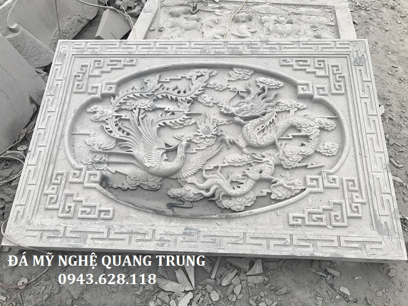 CHIẾU ĐÁ LONG PHƯỢNG đầy ấn tượng của Đá mỹ nghệ Quang Trung