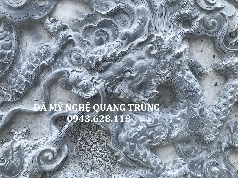 CHI TIẾT HOA VĂN RỒNG CUỐN THUỶ CUỐN THƯ 367 Lăng mộ đá, Mộ đá Ninh Bình