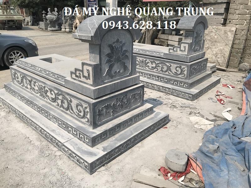 MẶT SAU MỘ BÀNH KT 107X192CM Lăng mộ đá, Mộ đá Ninh Bình
