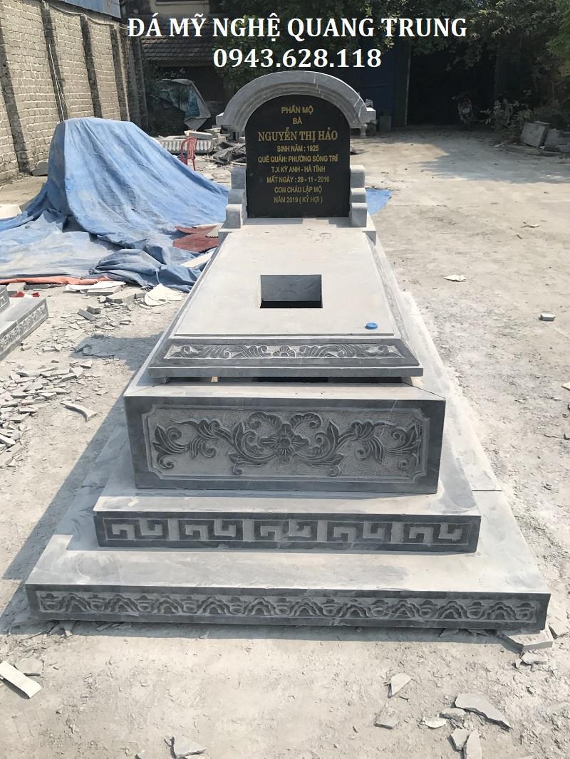 MẶT TRƯỚC MỘ BÀNH 107X192CM Lăng mộ đá, Mộ đá Ninh Bình