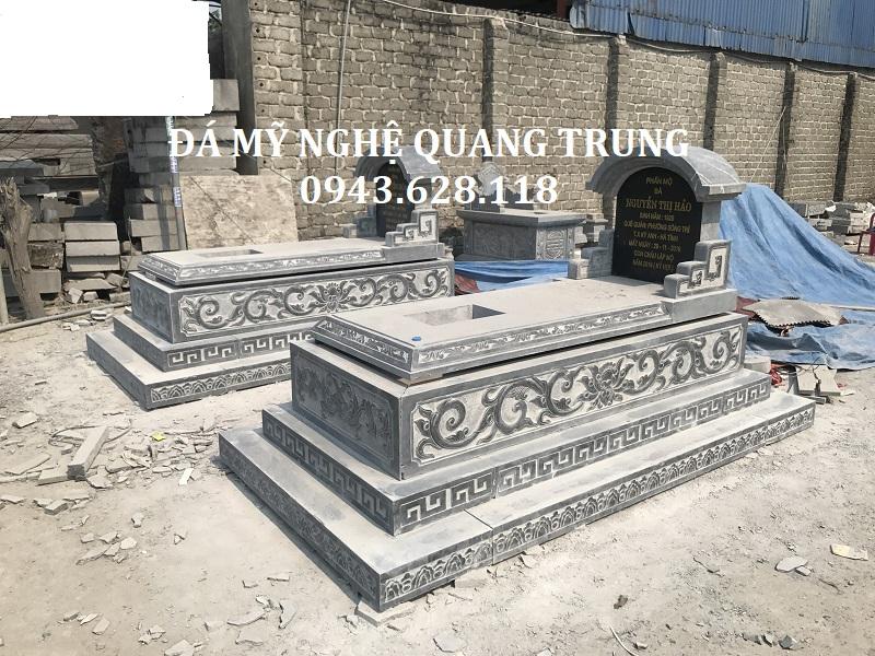MỘ BÀNH ĐÁ KT 107X192 Lăng mộ đá, Mộ đá Ninh Bình