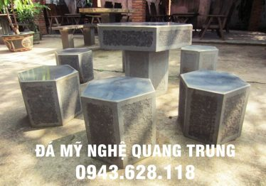 Mẫu bàn ghế đá tự nhiên tại Hà Nam