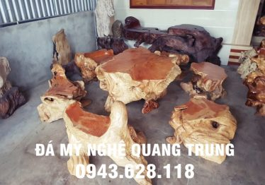 Mẫu bàn ghế đá tự nhiên tại Phú Yên