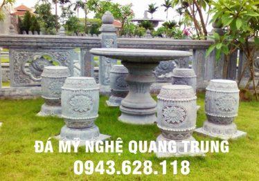 Mẫu bàn ghế đá tự nhiên tại Điện Biên