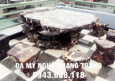 Mẫu bàn ghế đá tự nhiên tại Bắc Kạn