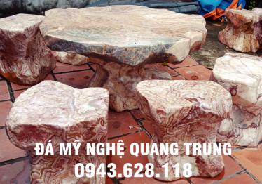 Mẫu bàn ghế đá tự nhiên tại Bạc Liêu