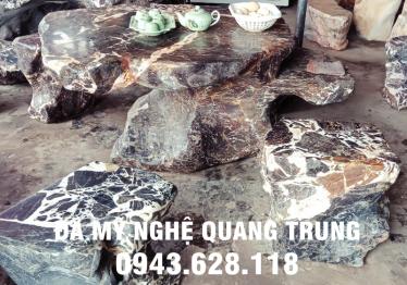 Mẫu bàn ghế đá tự nhiên tại Bình Định
