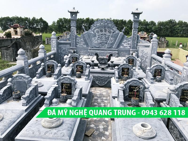 Khu lăng mộ đá đơn giản với nhiều mộ đơn đẹp của Đá mỹ nghệ Quang Trung