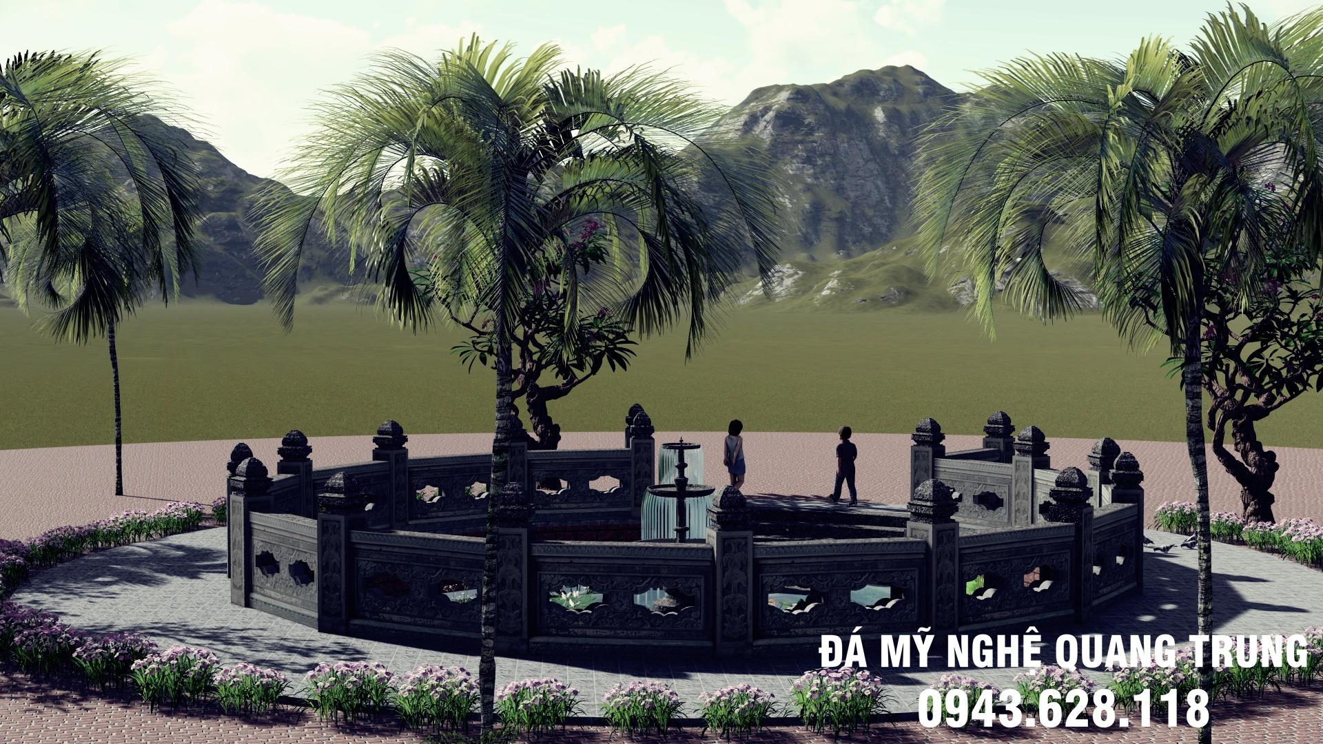 Ban ve thiet ke - Phoi canh gieng lang da (1)