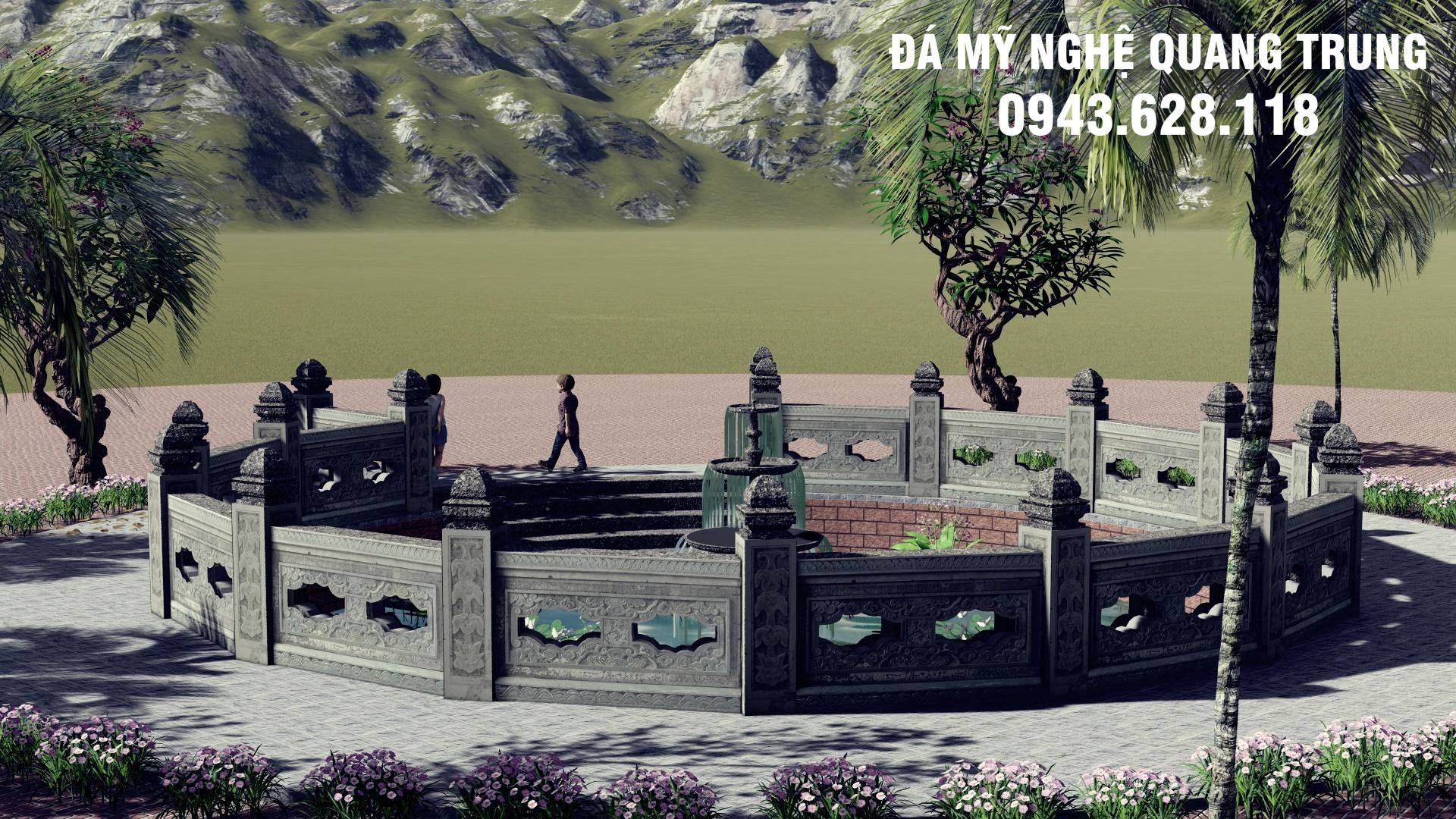 Ban ve thiet ke - Phoi canh gieng lang da (2)
