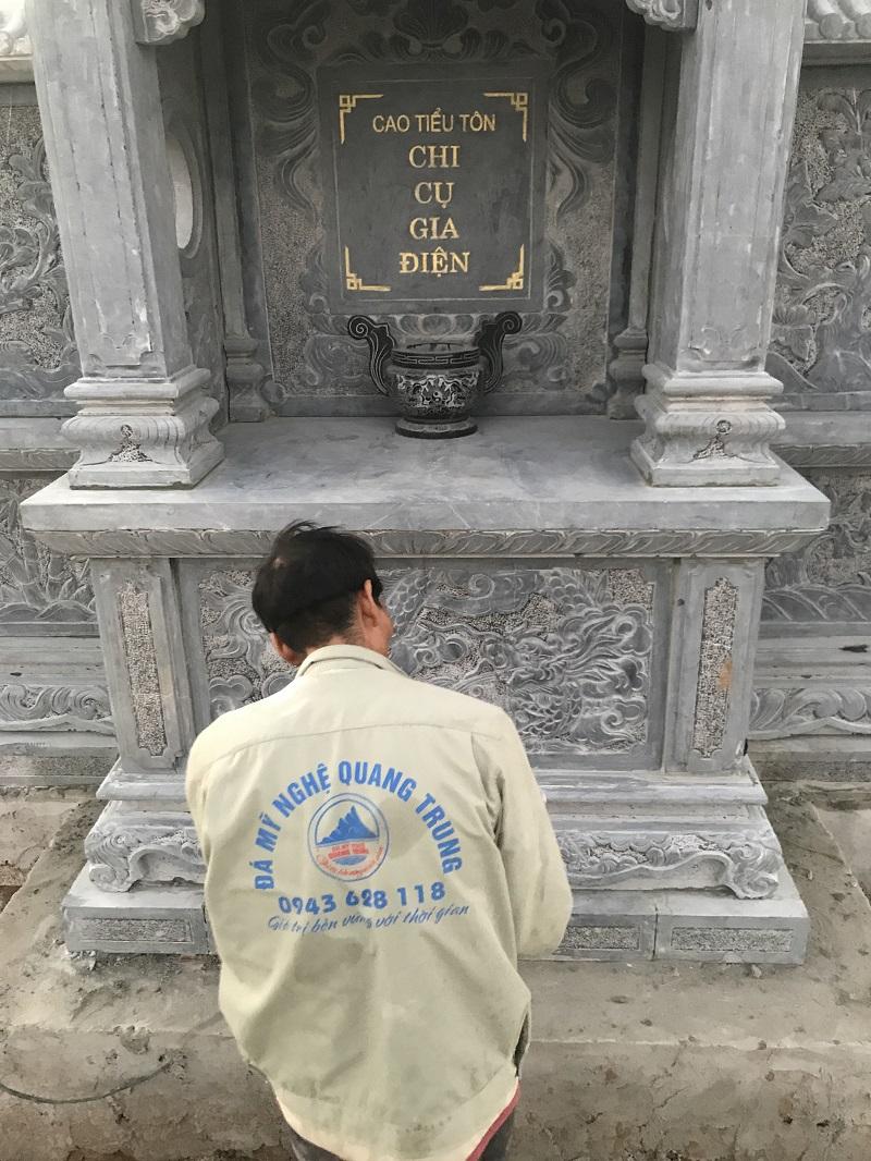KHUNG BIA LĂNG THỜ 367 Lăng mộ đá, Mộ đá Ninh Bình