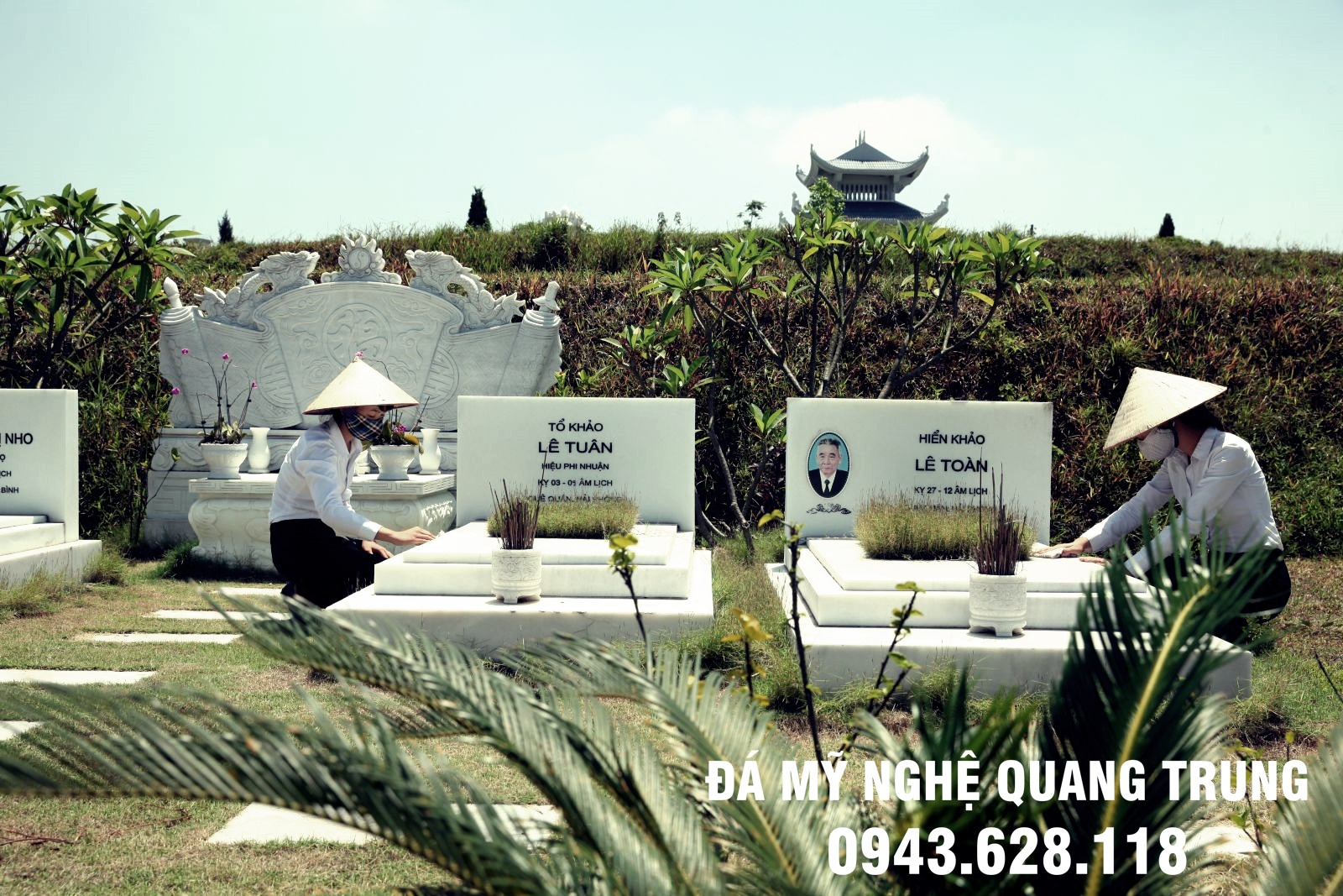 Khu lăng mộ đá trắng tự nhiên chế tác từ đá trắng Yên Bái