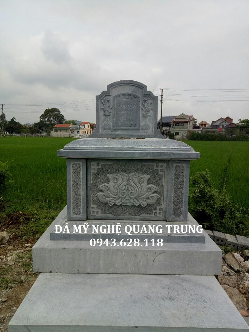 MẪU MỘ ĐƠN 01 1 Lăng mộ đá, Mộ đá Ninh Bình