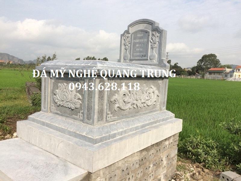 MẪU MỘ ĐƠN 01 Lăng mộ đá, Mộ đá Ninh Bình