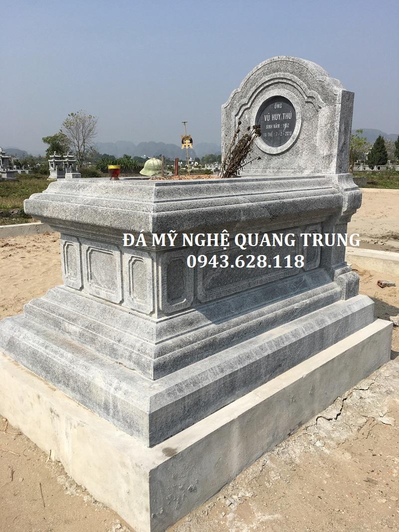 MẪU MỘ ĐƠN 04 Lăng mộ đá, Mộ đá Ninh Bình