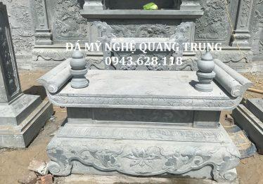 Bàn thờ đá đẹp bằng đá xanh rêu cao cấp của Khu lăng mộ đá, Nhà thờ họ/Nhà thờ tổ, Đình, Chùa