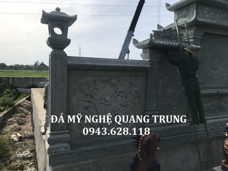 Mặt sau của Long đình đá cũng được Quang Trung Stone Gia công, Chế tác rất kỹ lưỡng, chi tiết.