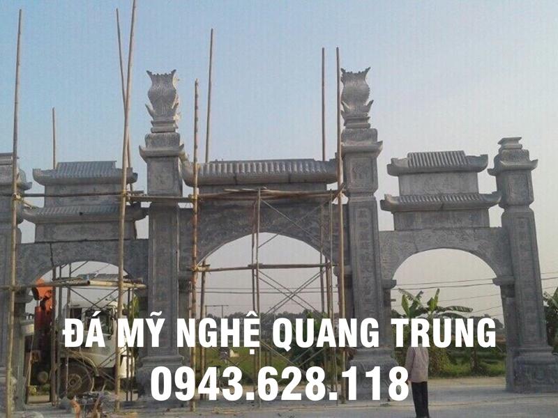 Mẫu Cổng làng bằng đá xanh nguyên khối Quang Trung
