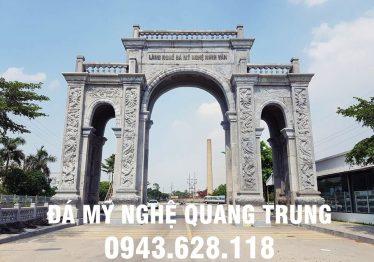 """""""Choáng ngợp"""" cổng làng đá nghề đá mỹ nghệ Ninh Vân, Hoa Lư, Ninh Bình"""