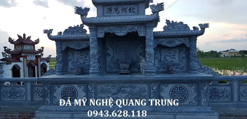 CHI TIẾT KHU LĂNG THỜ HỘP KHI HOÀN THIỆN Lăng mộ đá, Mộ đá Ninh Bình