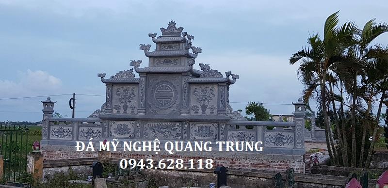 MẶT SAU KHU LĂNG MỘ ĐÁ XANH ĐEN Lăng mộ đá, Mộ đá Ninh Bình
