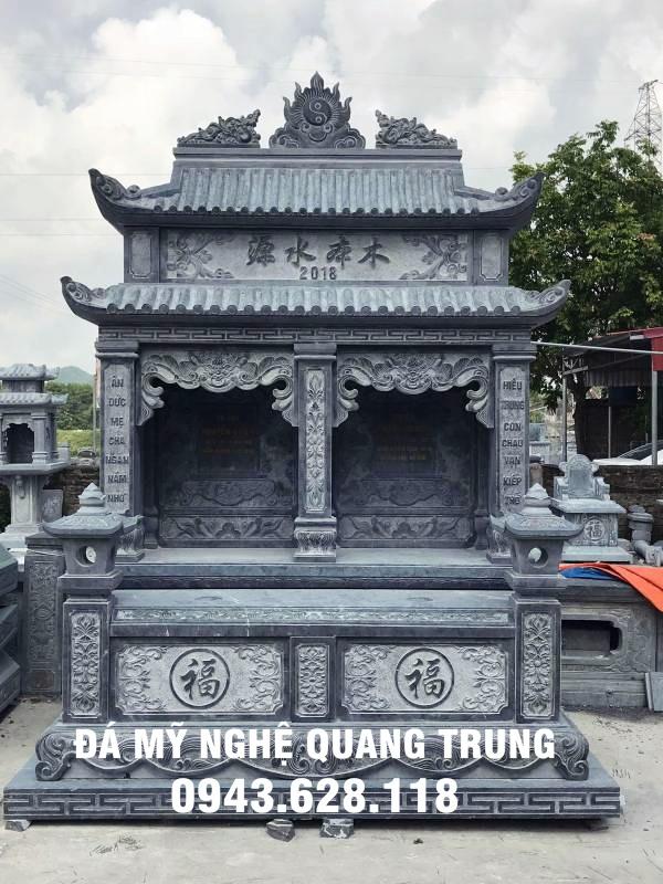 Mộ đá đôi hai mái đẹp Quang Trung