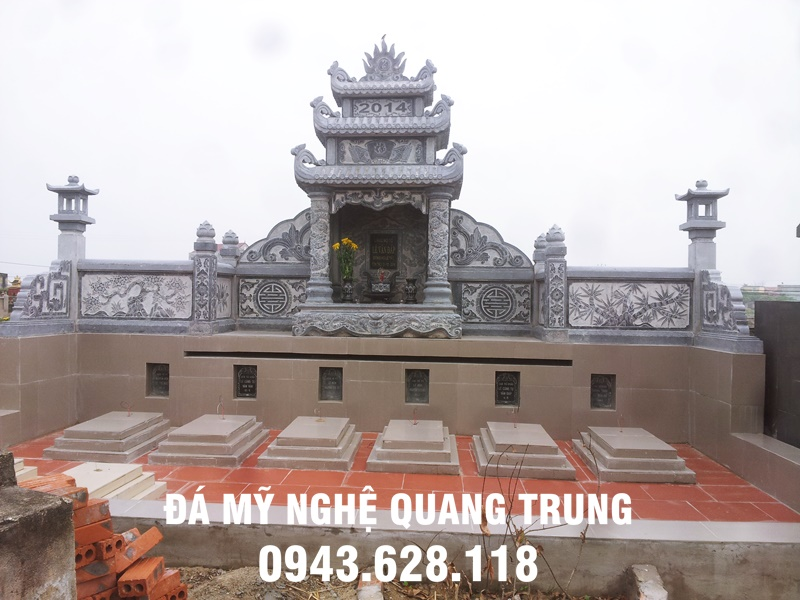 Khu lăng mộ đá đẹp tại Quảng Ninh được xây dựng và hoàn thiện năm 2014 do Đá mỹ nghệ Quang Trung làm đơn vị chế tác, lắp đặt.
