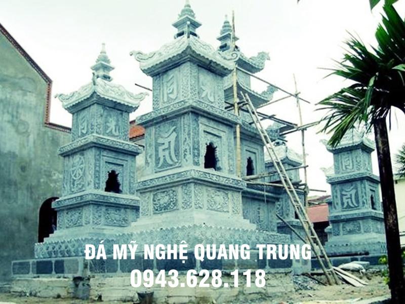Mau Bao thap bang da khoi do Da my nghe Quang Trung tu van lap dat