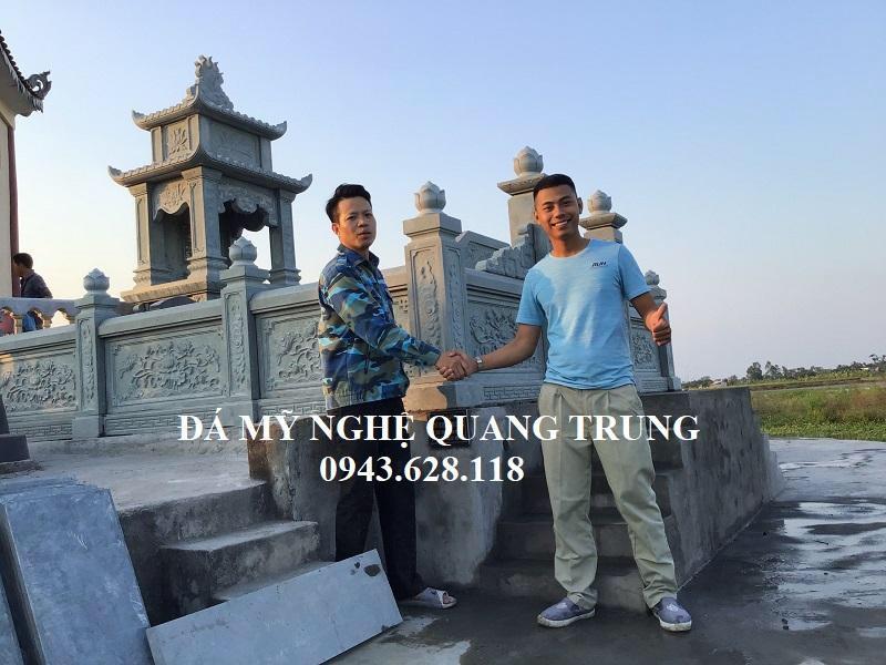 Khach hang cam on Nghe nhan tre Quang Trung da xay lap mot Khu lang mo da xanh reu DEP cho dong ho