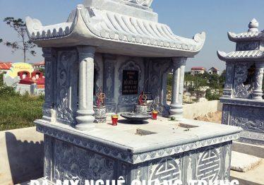 Mẫu mộ đá đôi đẹp Quang Trung 2019