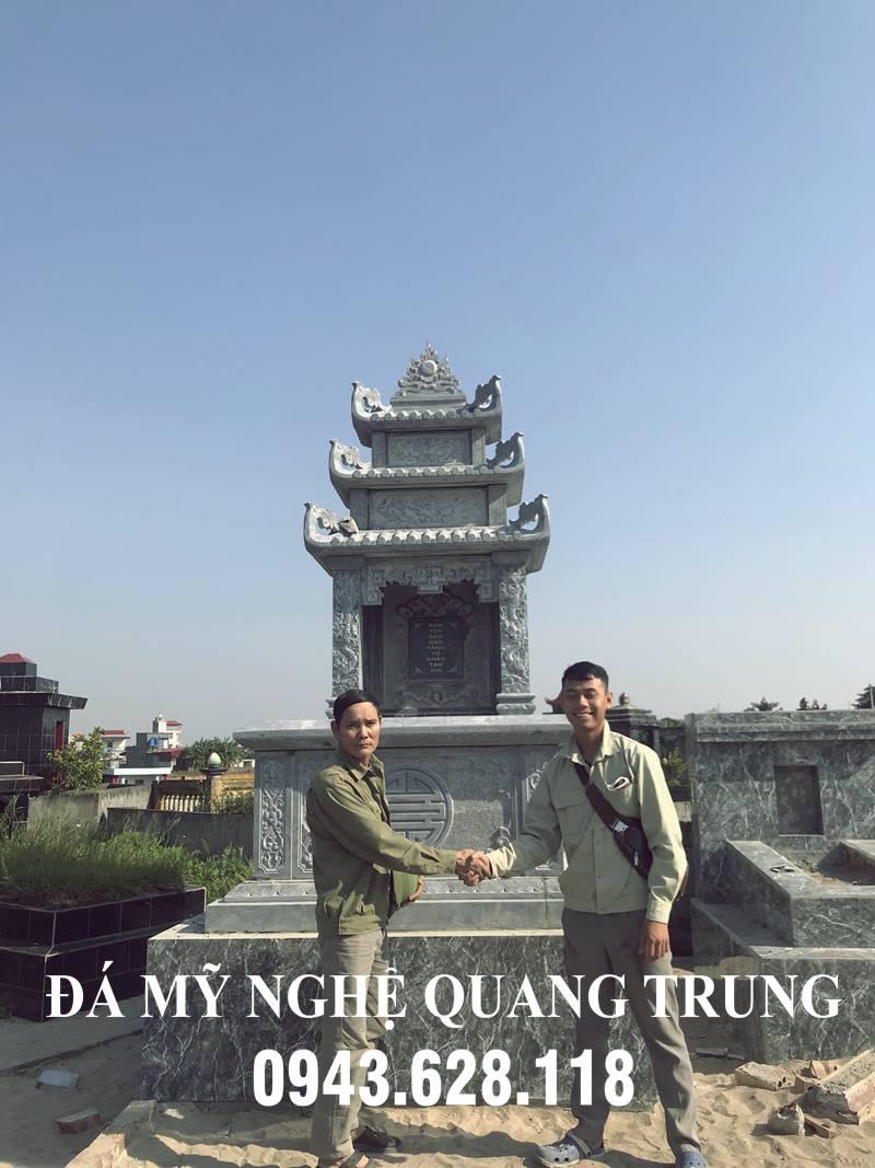 Mẫu Mộ đá, Mộ đá Tam Sơn 3 mái đẹp của Đá mỹ nghệ Quang Trung - Ninh Vân, Hoa Lư, Ninh Bình
