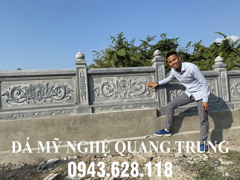 Lan can da thiet ke cua Nghe nhan Quang Trung